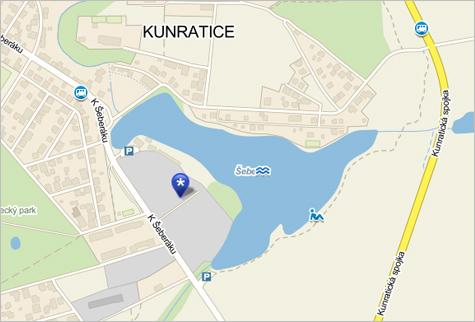 Kunratické jahody - mapa